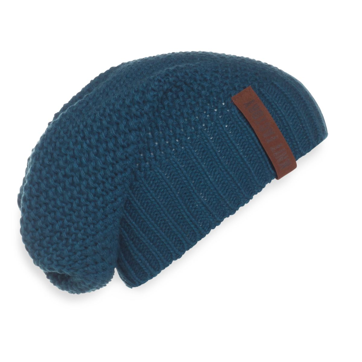 knit factory kf120070008 coco beanie petrol 1
