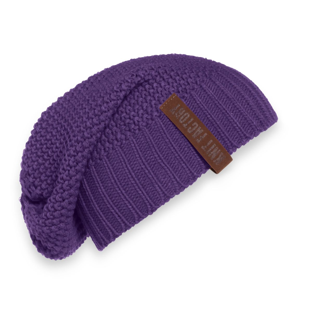 knit factory kf12007012350 coco beanie violet 1