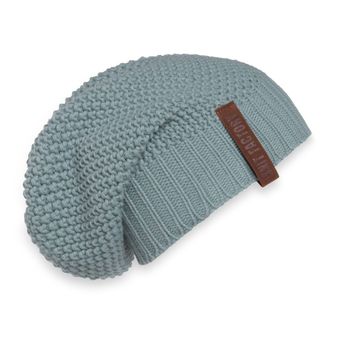 knit factory 1207009 coco beanie stone green 1
