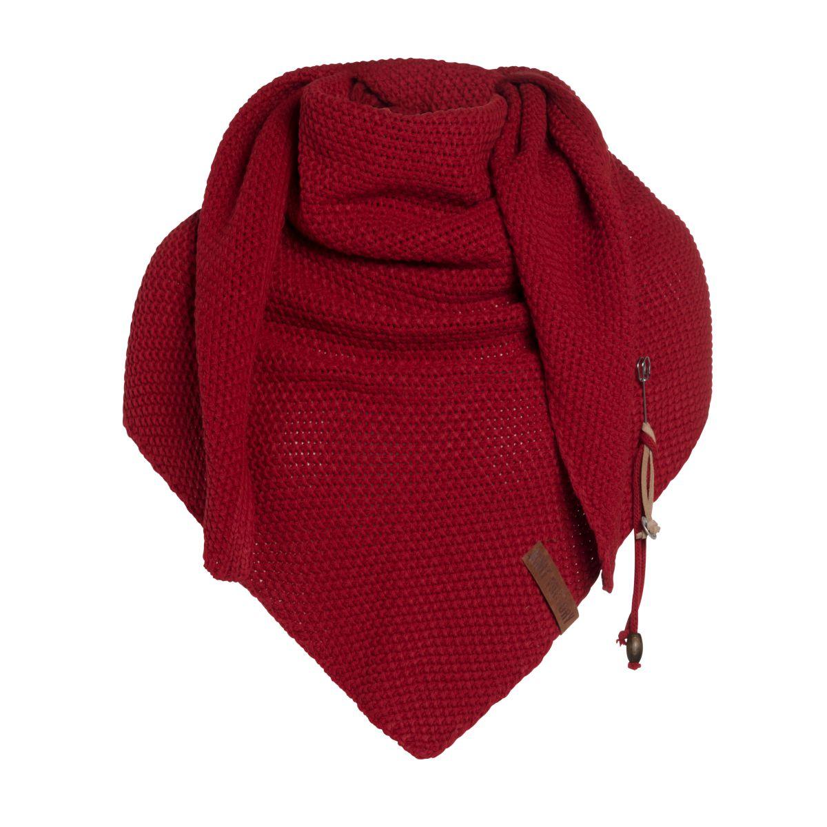 knit factory 1206003 coco omslagdoek bordeaux 1