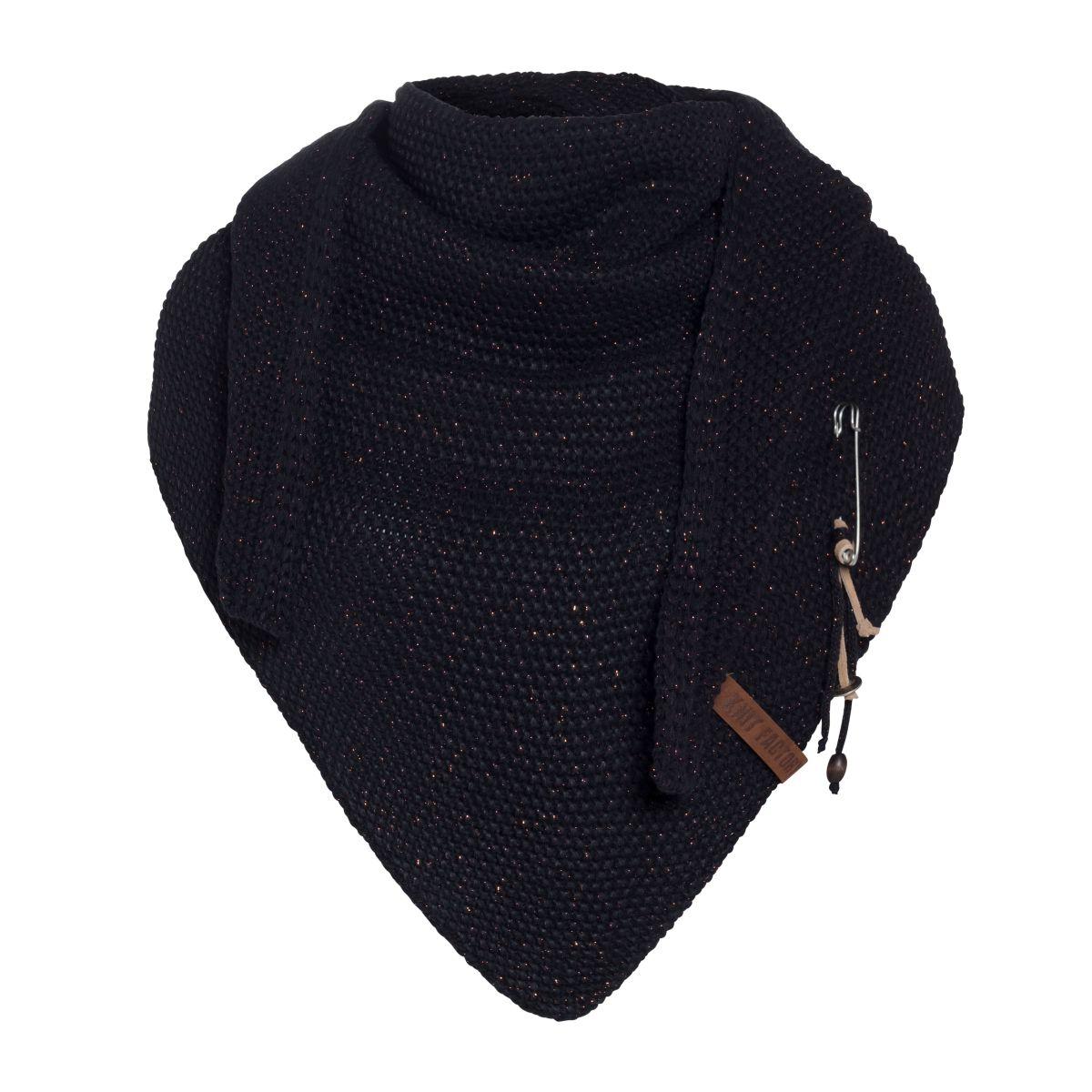 knit factory 1205826 coco omslagdoek deluxe navy 1