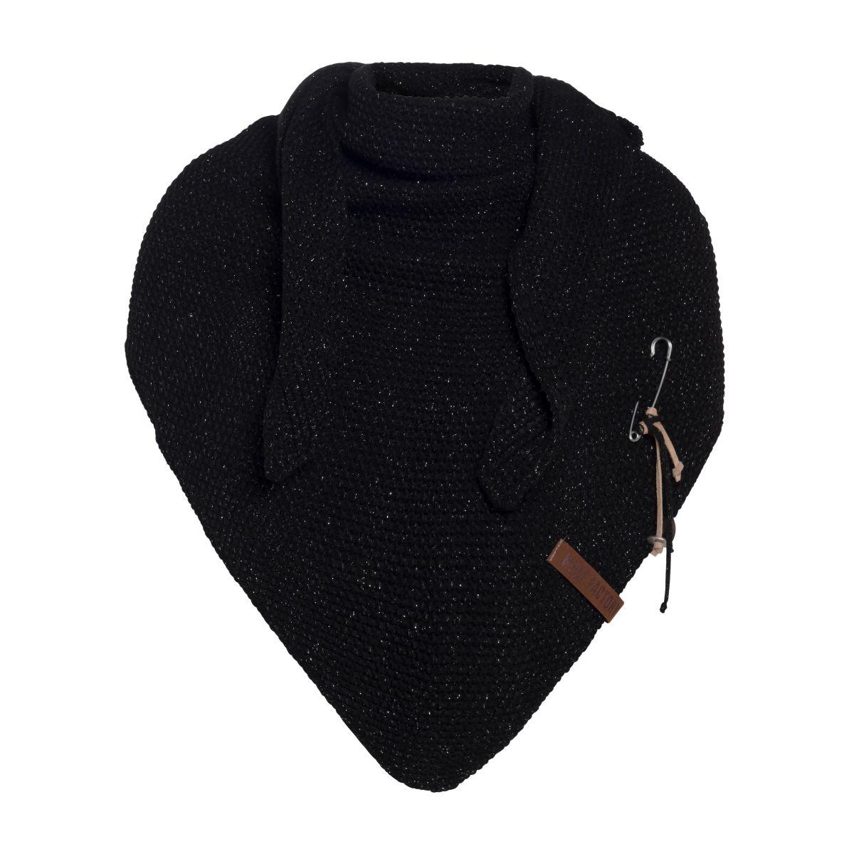 knit factory 1205800 coco omslagdoek deluxe zwart 1