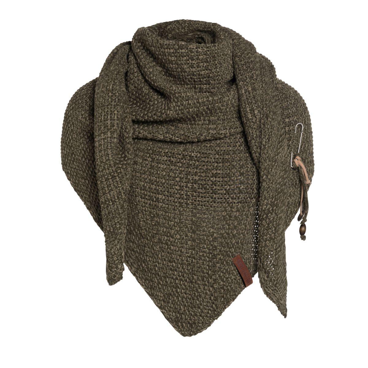 knit factory 1206044 coco omslagdoek groen olive 1