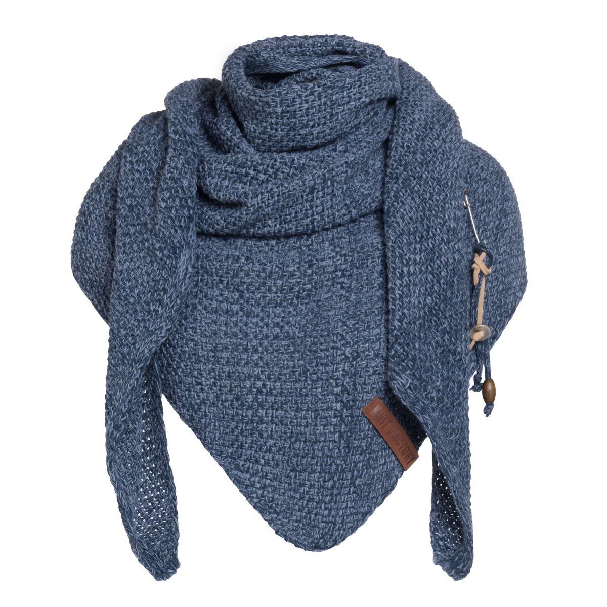 knit factory 1206054 coco omslagdoek jeans indigo 1