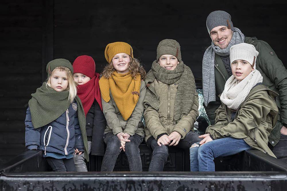 knit factory 1205903 coco omslagdoek junior bordeaux 9