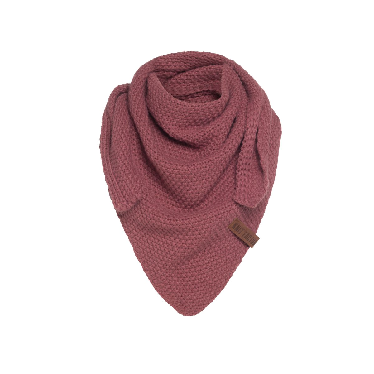 knit factory kf120059038 coco omslagdoek junior stone red 1