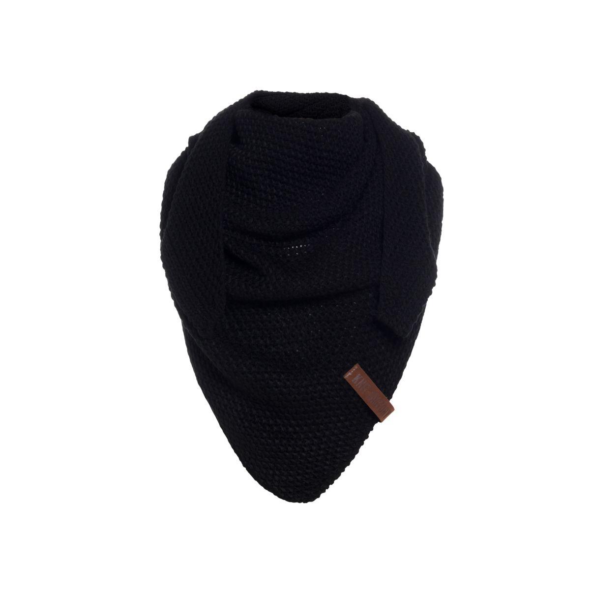 knit factory 1205900 coco omslagdoek junior zwart 1