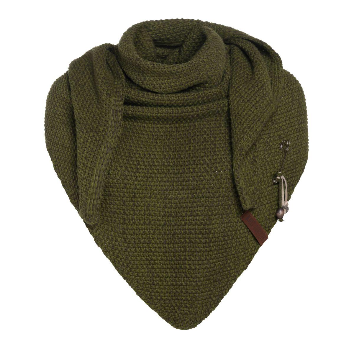 knit factory kf12006008550 coco omslagdoek mosgroen khaki 1