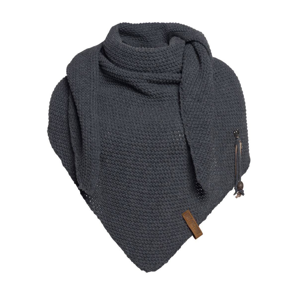 coco triangle scarf anthracite