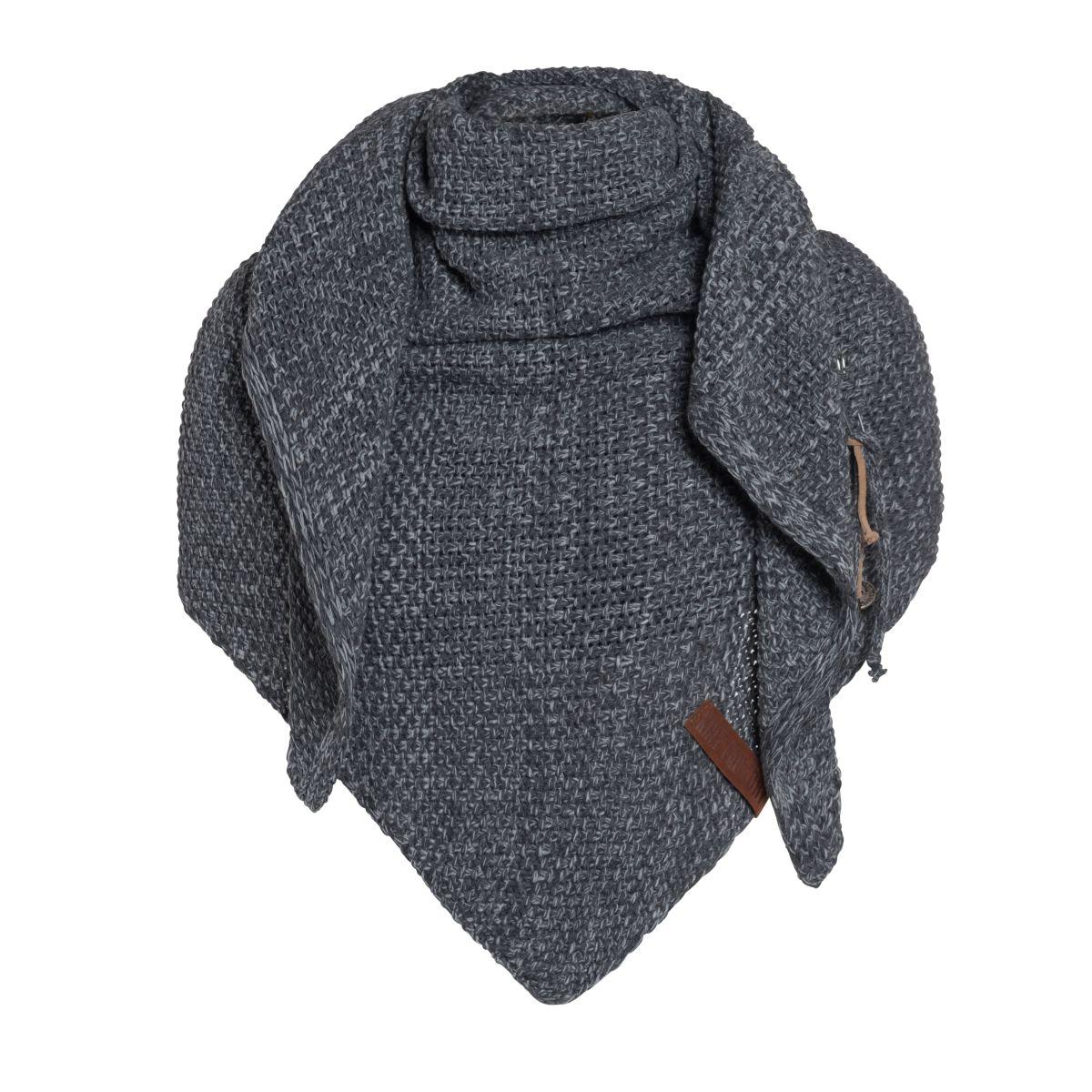 coco triangle scarf anthracitegrey