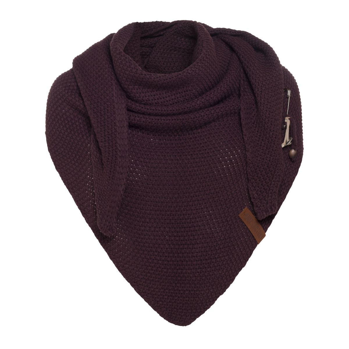 coco triangle scarf aubergine