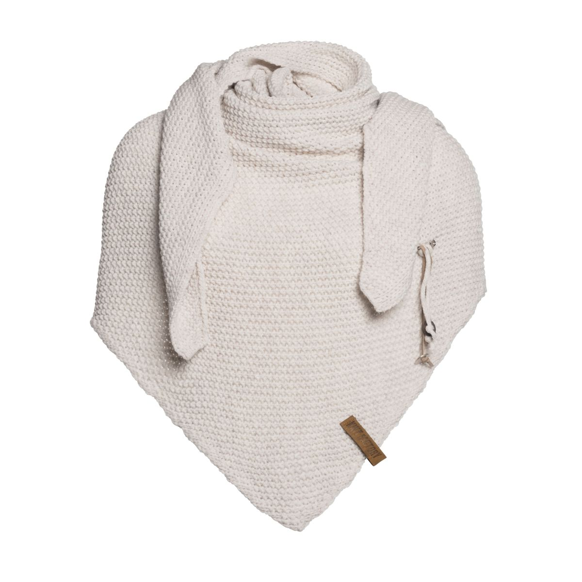 coco triangle scarf beige