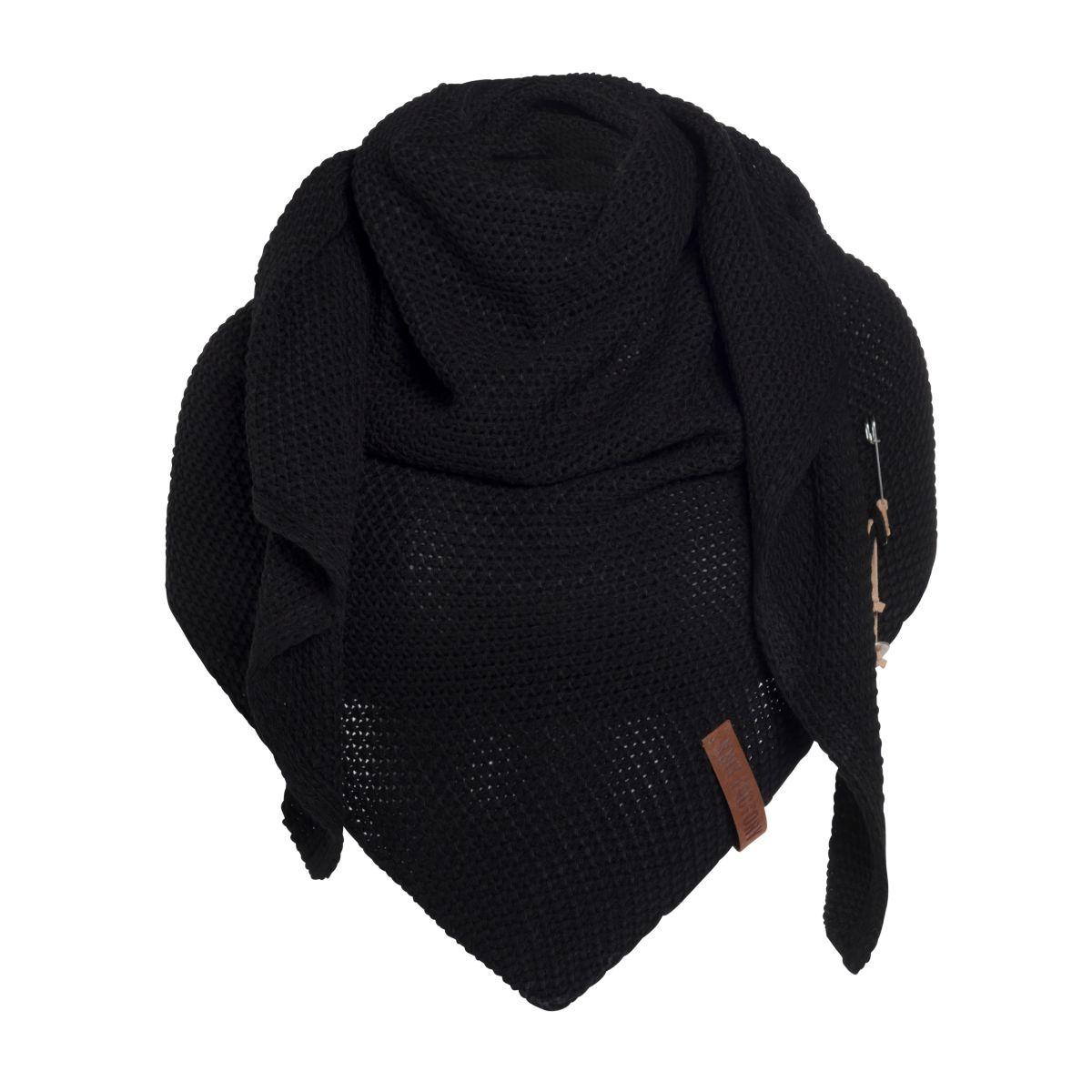 coco triangle scarf black