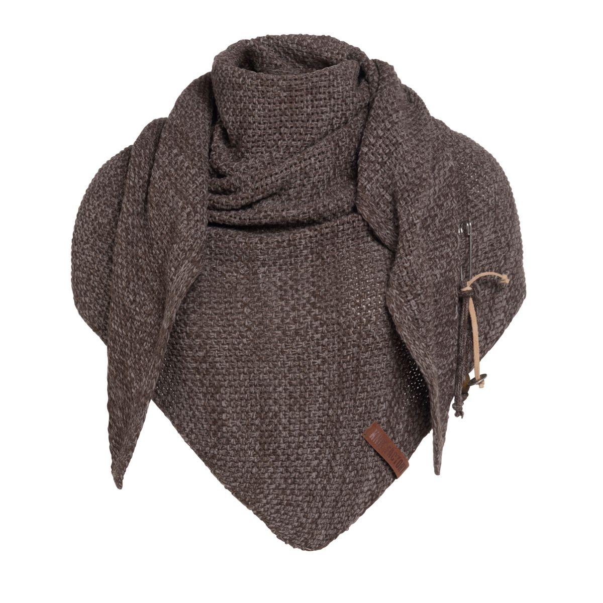 coco triangle scarf browntaupe