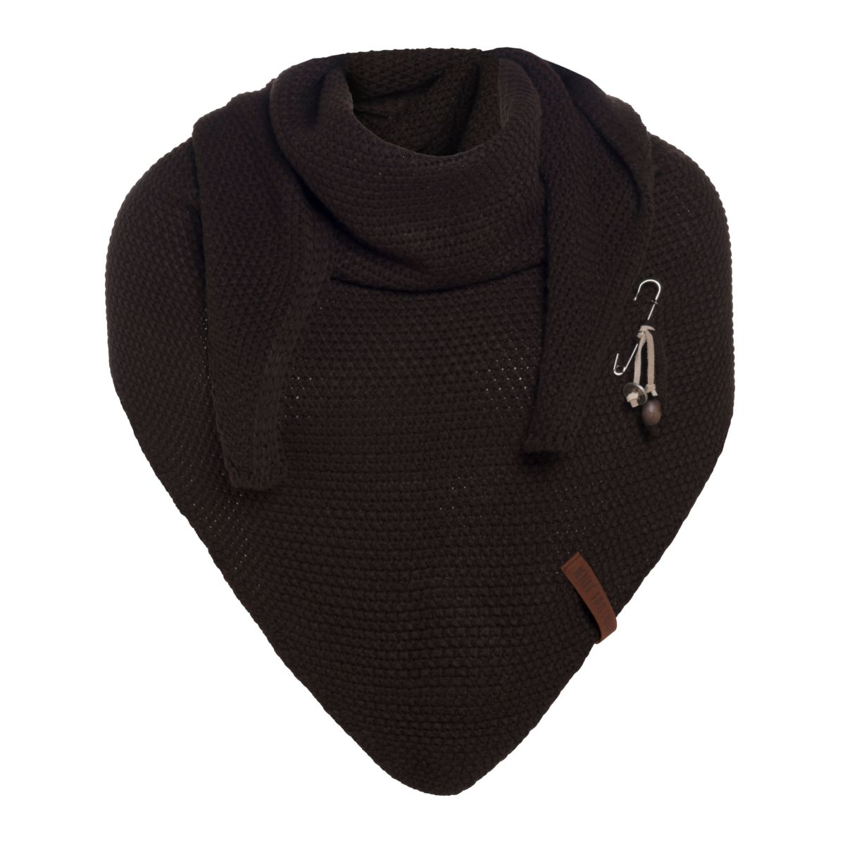coco triangle scarf dark brown