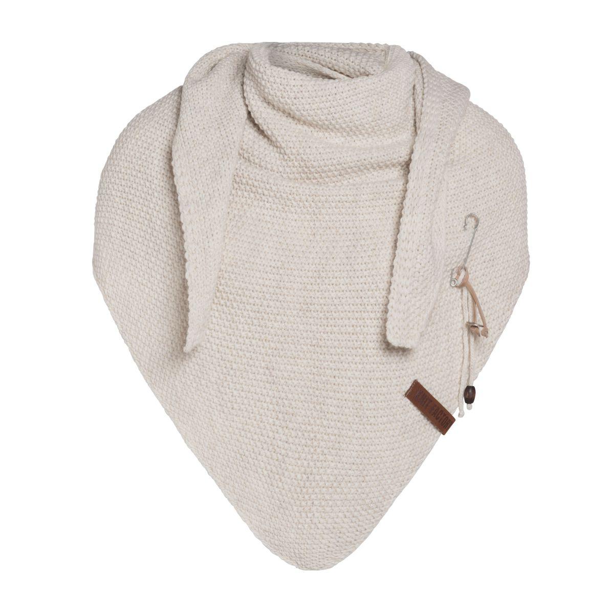 coco triangle scarf deluxe beige
