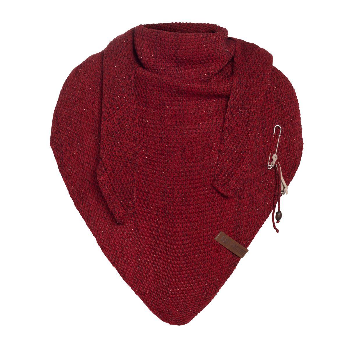 coco triangle scarf deluxe bordeaux