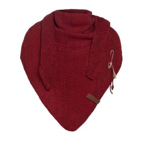 Coco Triangle Scarf Deluxe Bordeaux