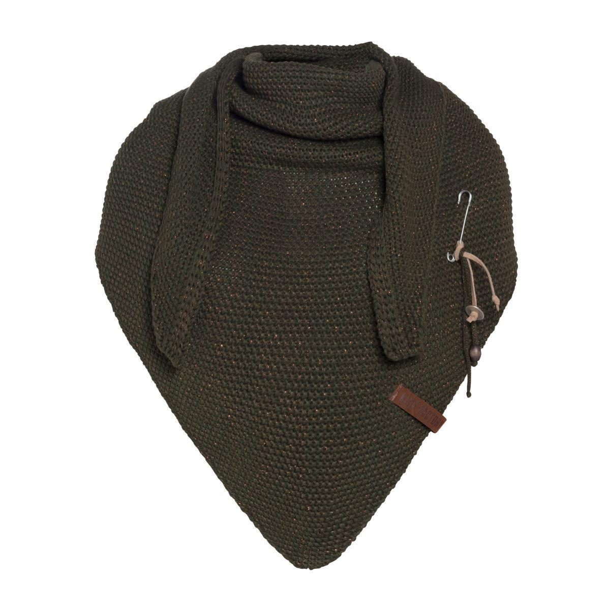 coco triangle scarf deluxe khaki