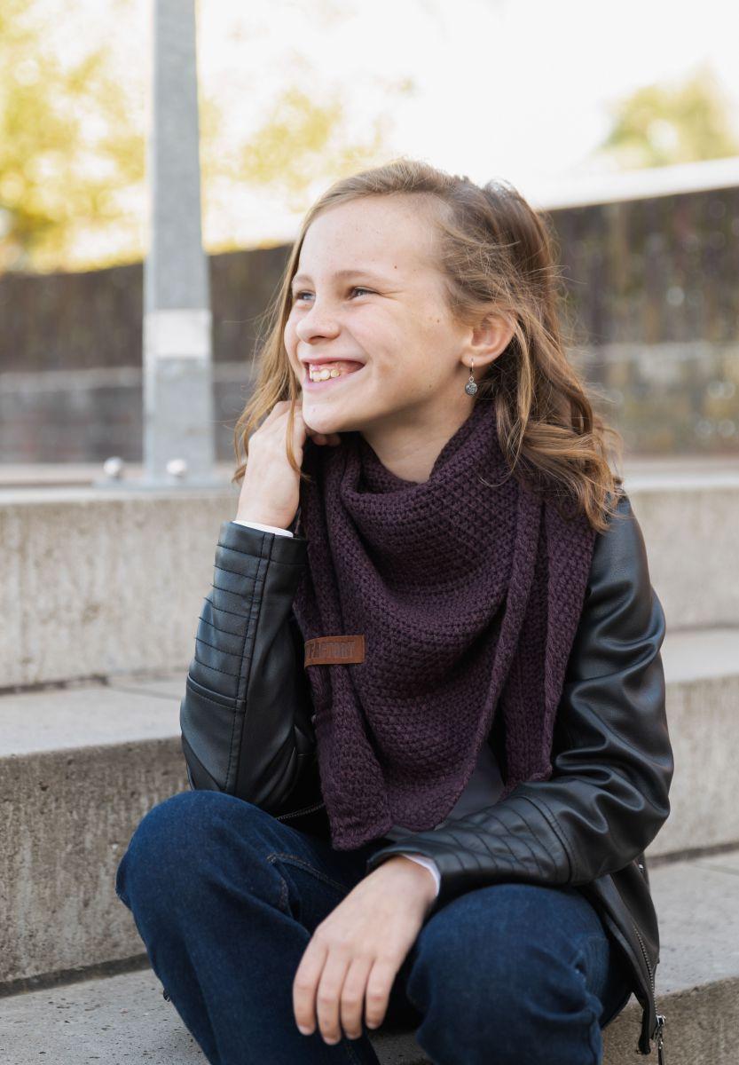 coco triangle scarf junior aubergine