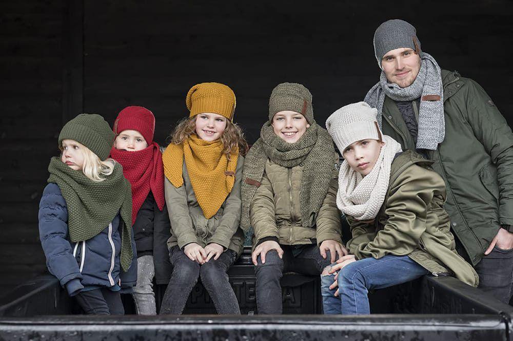 coco triangle scarf junior bordeaux