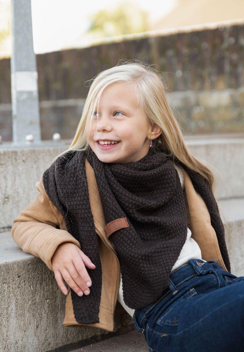 coco triangle scarf junior dark brown