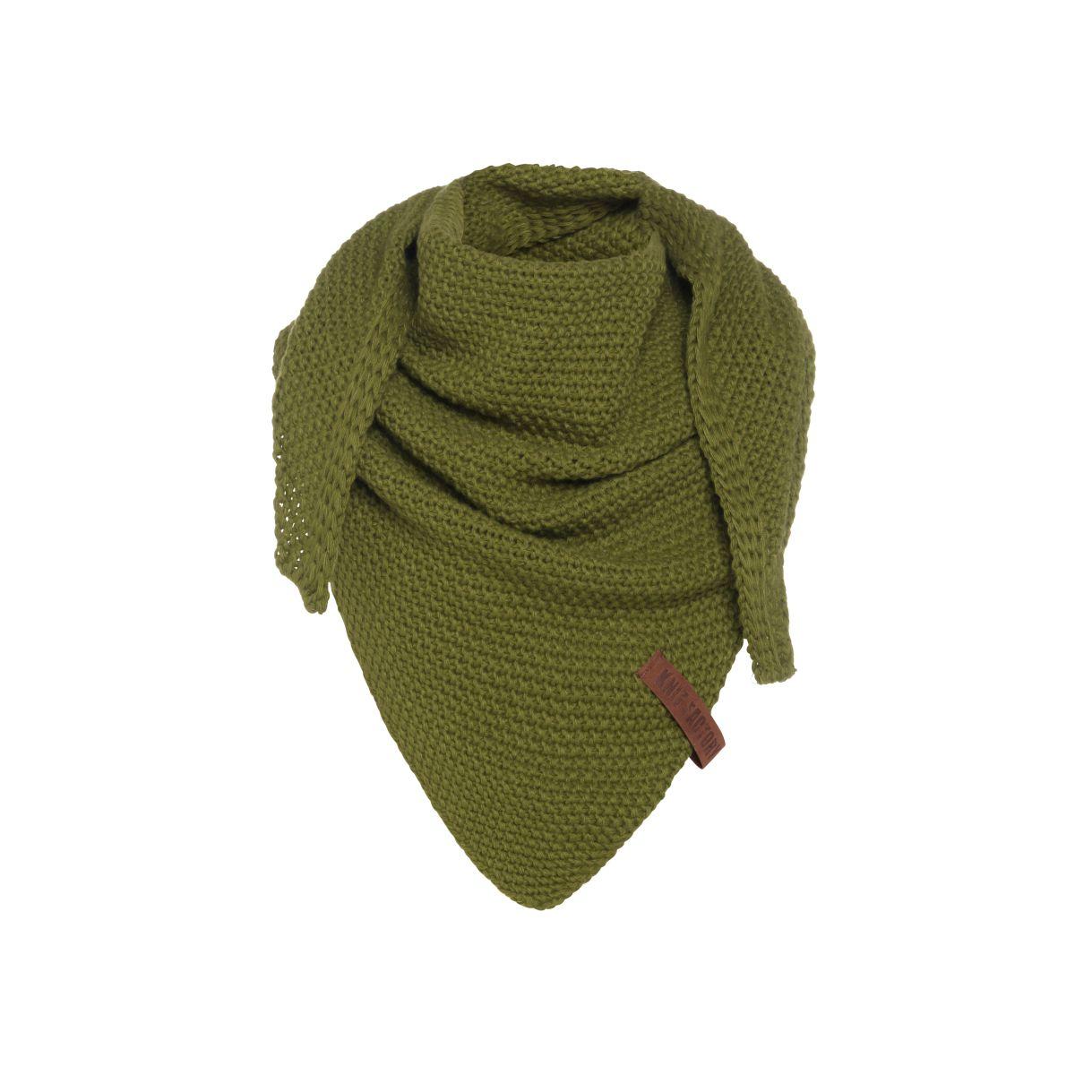 coco triangle scarf junior moss green