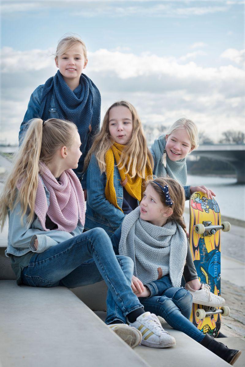 coco triangle scarf junior ochre