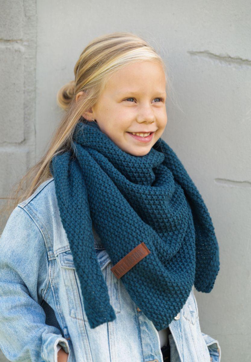 coco triangle scarf junior petrol