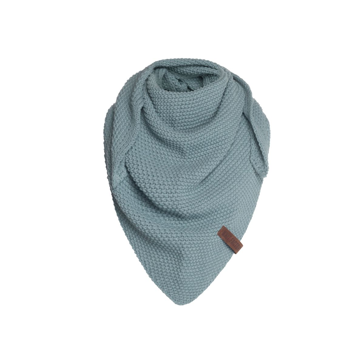 coco triangle scarf junior stone green