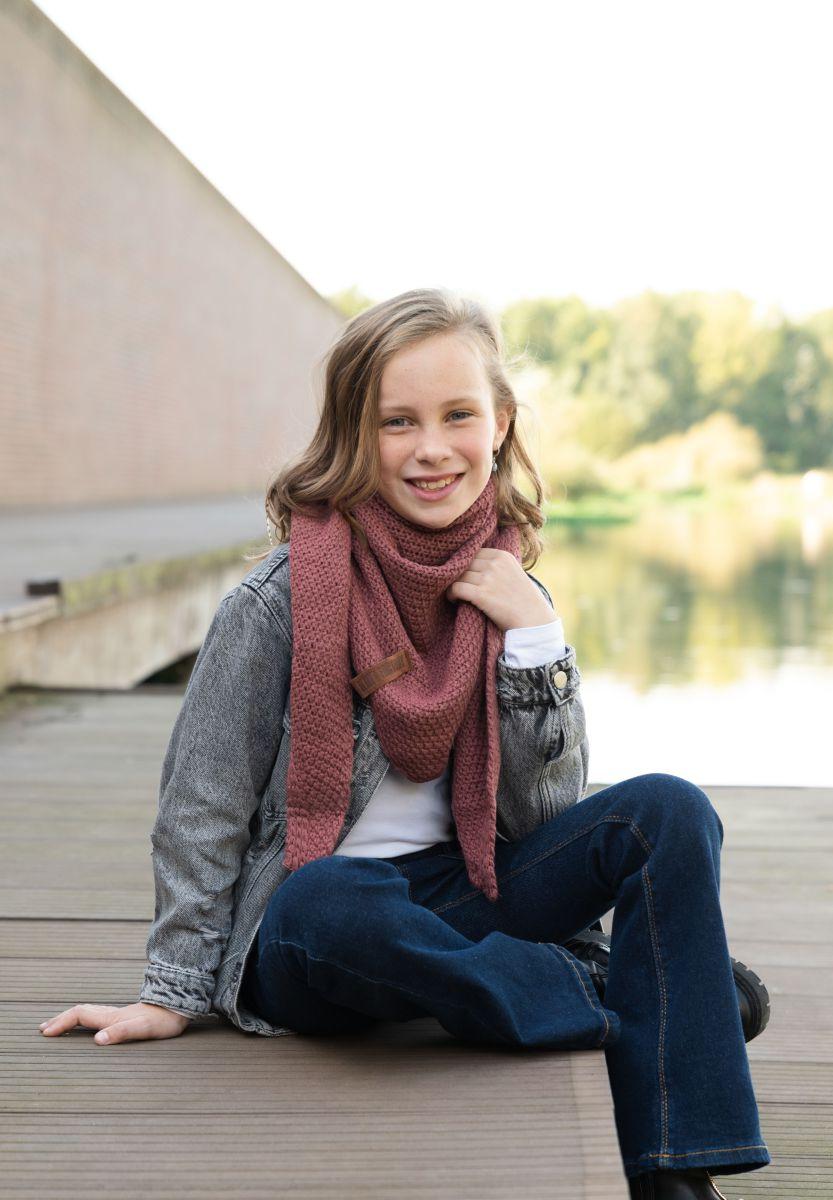 coco triangle scarf junior stone red