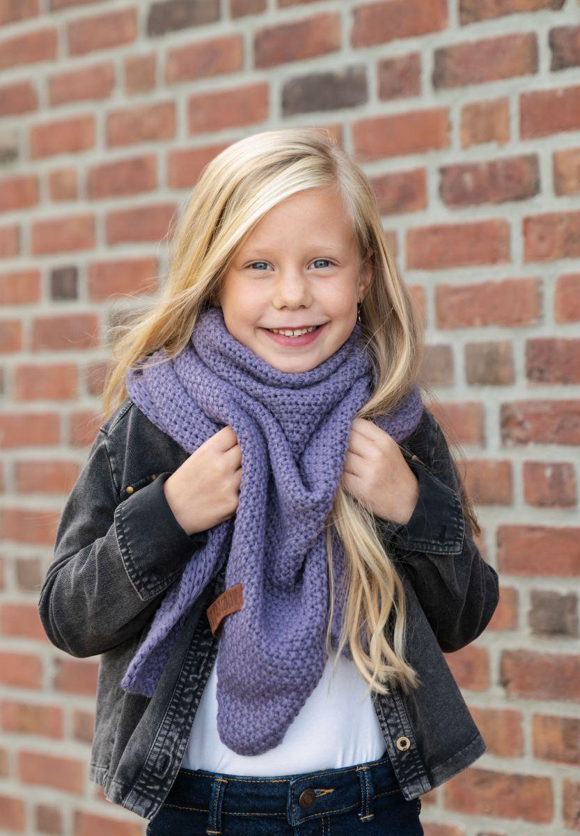 coco triangle scarf junior violet