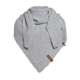 Coco Triangle Scarf Light Grey