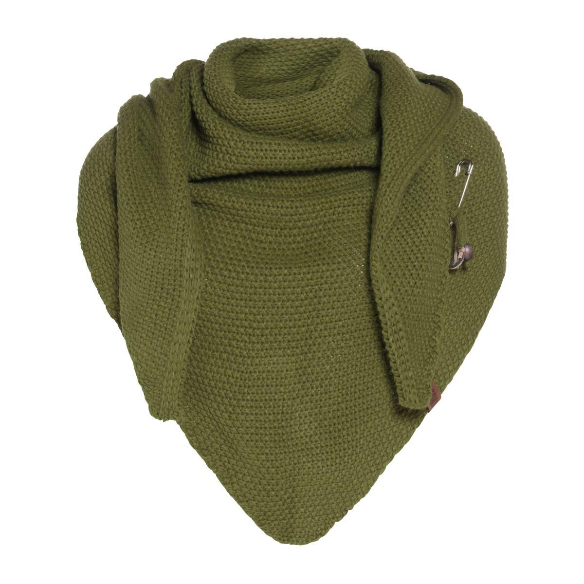 coco triangle scarf moss green