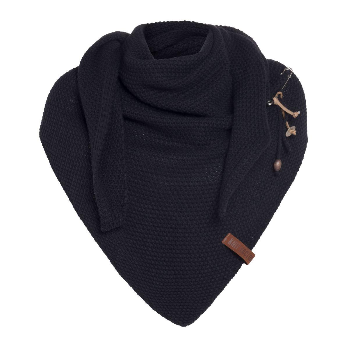 coco triangle scarf navy