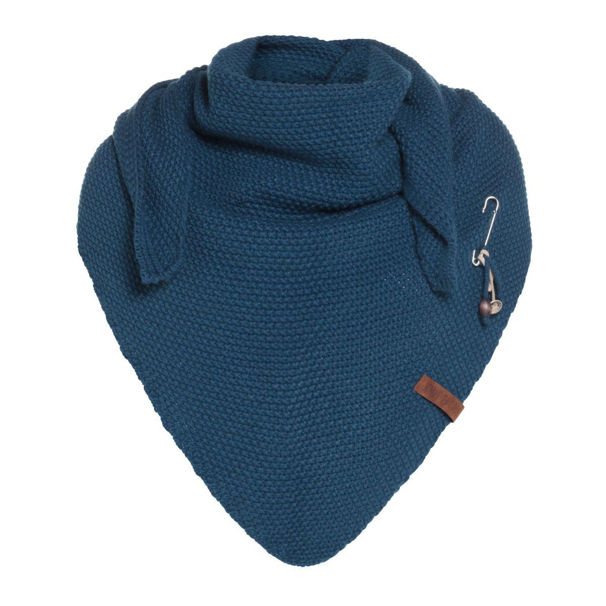 coco triangle scarf petrol
