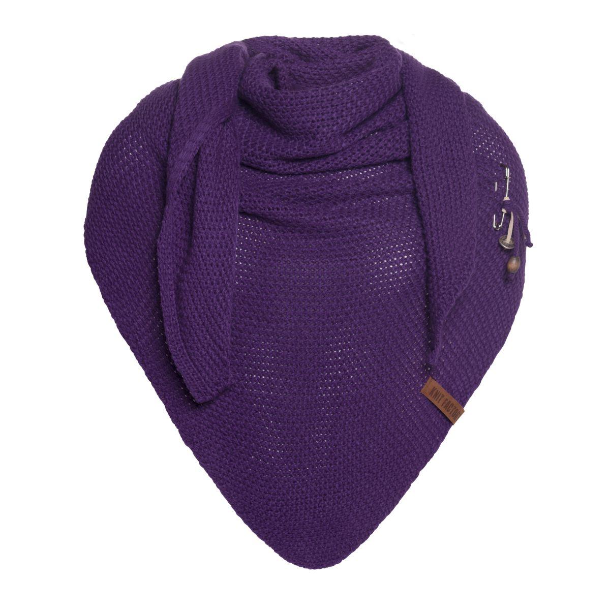 coco triangle scarf purple