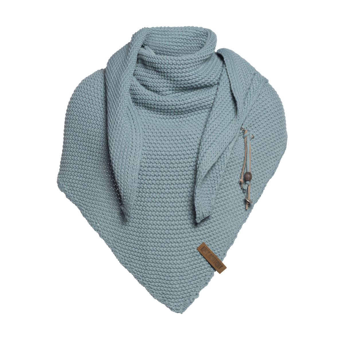 coco triangle scarf stone green