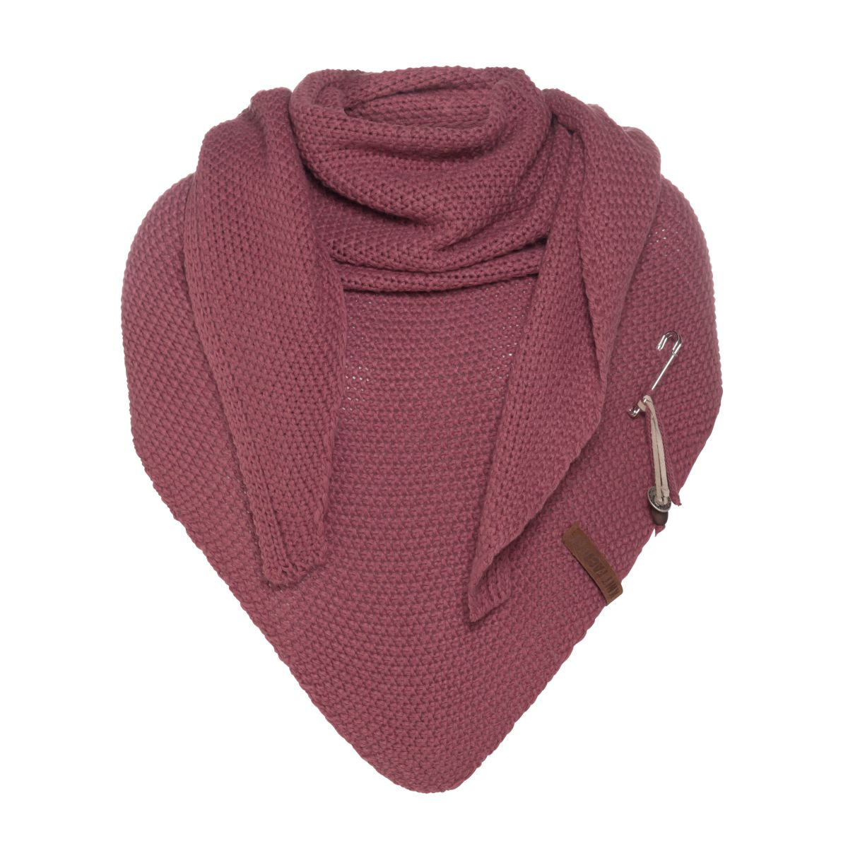 coco triangle scarf stone red
