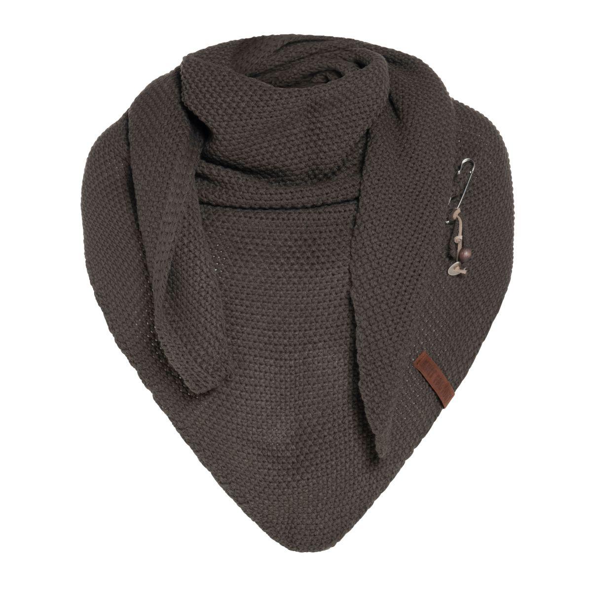 coco triangle scarf taupe