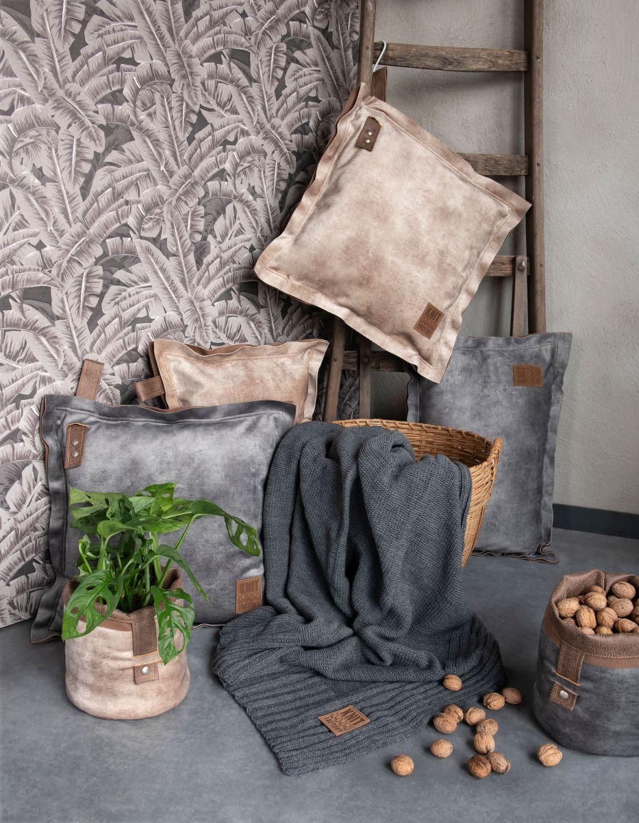 dax cushion brique 50x50