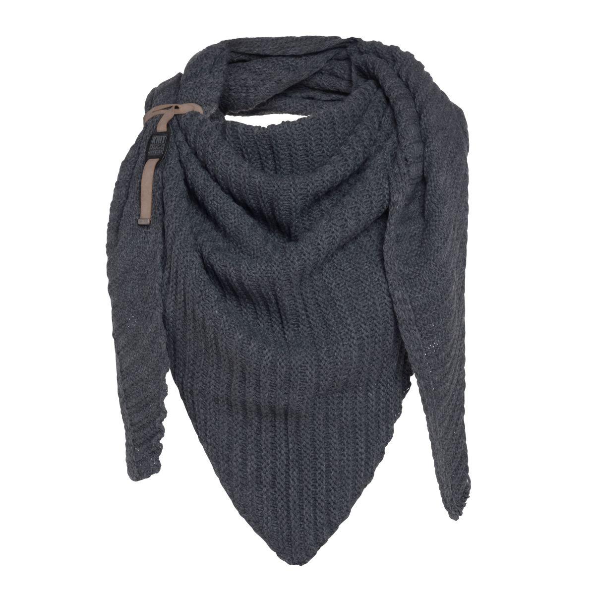 knit factory kf14706001050 demy omslagdoek antraciet 1
