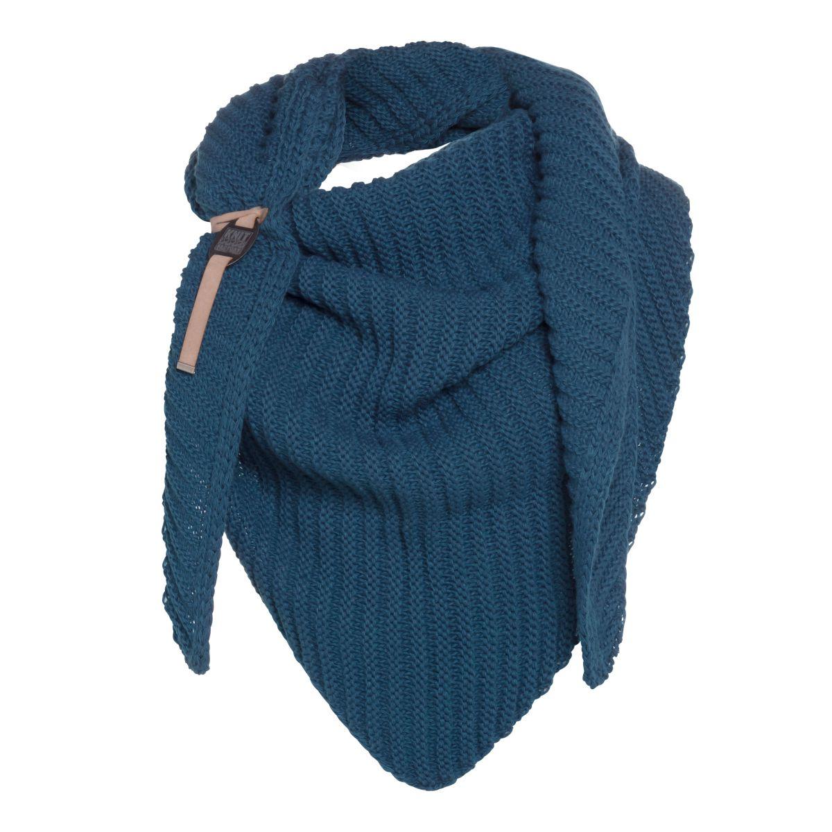 knit factory kf14706000850 demy omslagdoek petrol 1