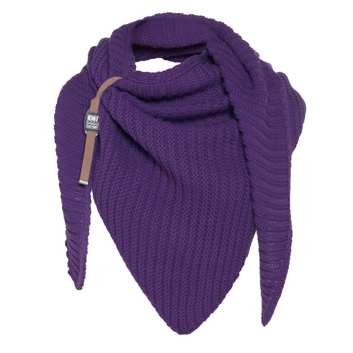 knit factory kf14706012350 demy omslagdoek purple 1