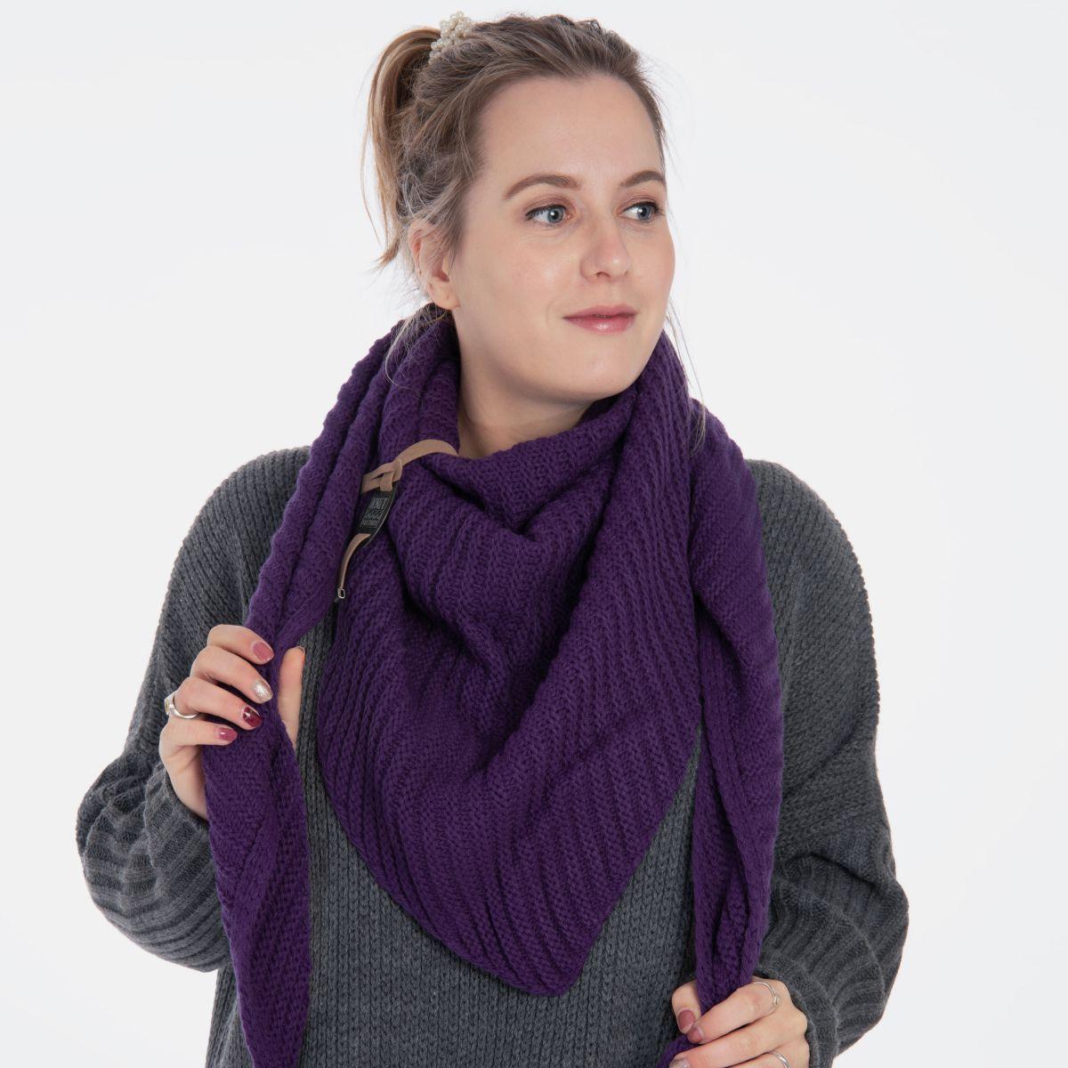 knit factory kf14706012350 demy omslagdoek purple 2