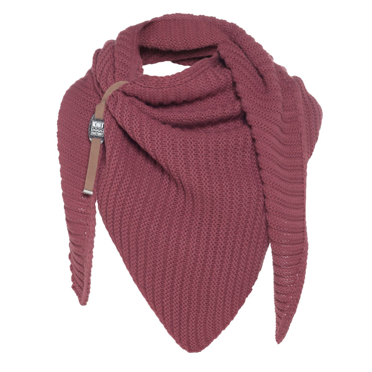 knit factory kf14706003850 demy omslagdoek stone red 1
