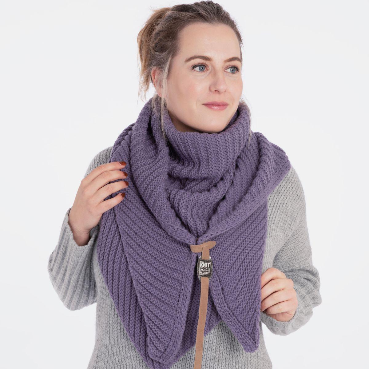 knit factory kf14706004350 demy omslagdoek violet 2