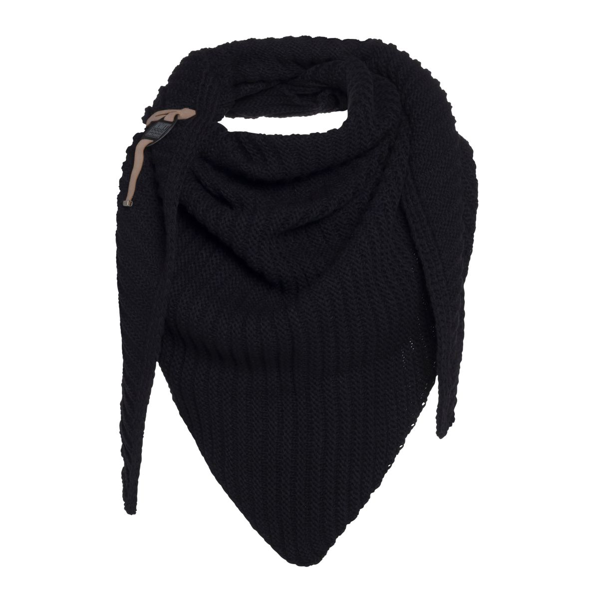 knit factory kf14706000050 demy omslagdoek zwart 1