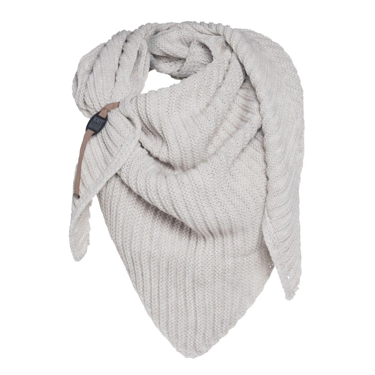 demy triangle scarf beige