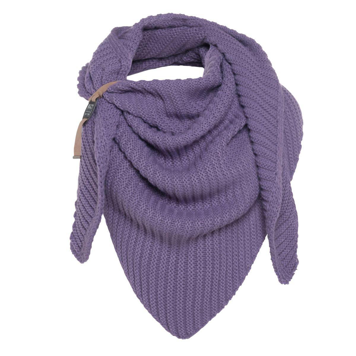 demy triangle scarf violet